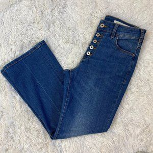 Anthropologie Pilcro High Rise Flare Crop Jeans 28